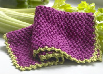 Strikkeopskrift: Farverige karklude