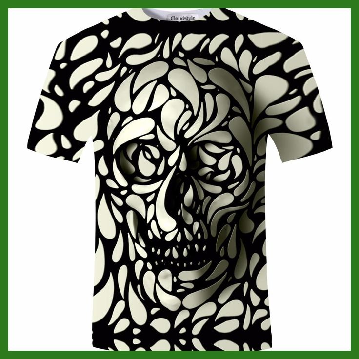 New Design Skull 3d Print Men tshirt Fashion 3D Skull T-Shirt Summer Short Sleeve Casual Breathable Tops Tee Plus Size 5XL Homme
