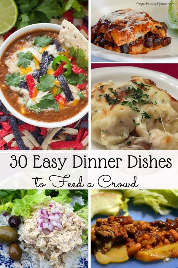 easy dinner ideas for company. need to feed guests visiting for the holidays? i\u0026 put together 30 easy dinner dishes a crowd. come find few new recipes. ideas company c