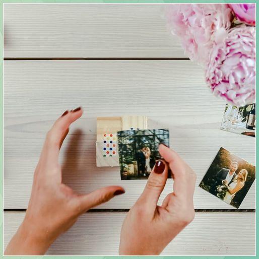 DIY Fotowürfel selber machen - Klappbarer Würfel als DI