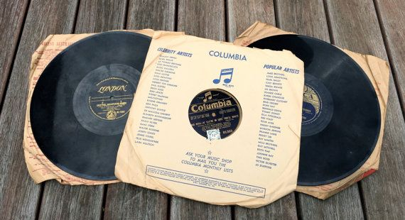 This listing is for 3 Vintage 78 RPM Speed Vinyl Records. Please look at the photos for the details of recordings.  The Labels include Decca, Columbia Music Notes and London (EMI Australia)  I have no way of checking if they still play and they do have scuffs and some scratches. They still have paper sleeves, although they are torn.  These records would be fantastic as decor or in a record collection and if you have an old gramophone, you may find that they still even play! Ill be happy to…