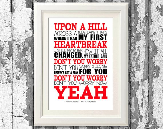 Swedish House Mafia Dont Worry Child 8x10 by RTprintdesigns