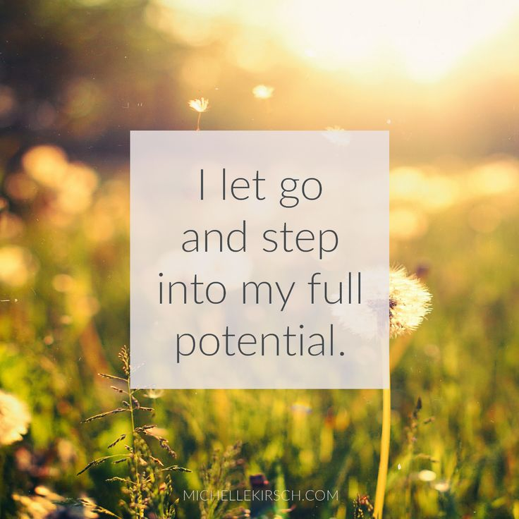 3 Minute Meditation: I let go and step into my full potential. A quick, but powerful meditation to help you let go of whatever is holding you back and step into your potential.