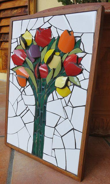 Flower Mosaic by Nikki Murray-Mason, Nikki Inc Mosaics, Bermuda. (www.nikkiinc.com) IMG_1819 by Nikki Inc Mosaics, via Flickr
