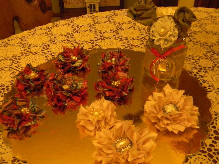 λουλούδια απο ύφασμα