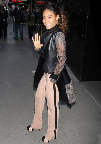 Jada Pinkett Smith at ABC Studios in New York City for an appearance on Good Morning America.