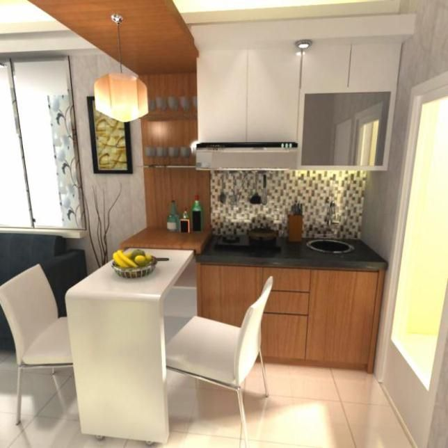 Desain Dapur Apartemen Tampak Depan Gambar 43