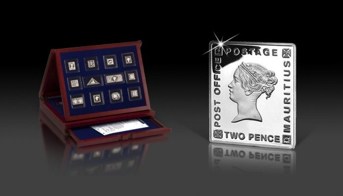 Temat powieści, filmów, a nawet sztuk teatralnych - Błękitny Mauritius - ikona światowej filatelistyki, znalazł swoje odbicie w monecie.