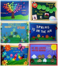 april bulletin board ideas space