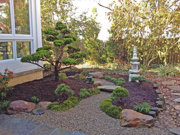 How To Design A Backyard this design breaks up a small backyard and makes it appear larger a water feature surrounds an island patio that features a cozy fire pit Backyard Landscape Design By Lees Oriental Landscape Art