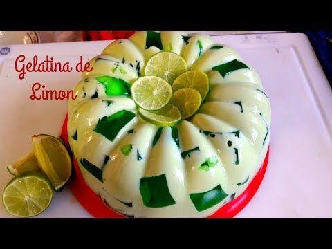 GELATINA DE LIMON Y 3 LECHES/ MOSAICO DE LIMON DIA DEL PADRE/COCINA TRADICIONAL MEXICANA - YouTube