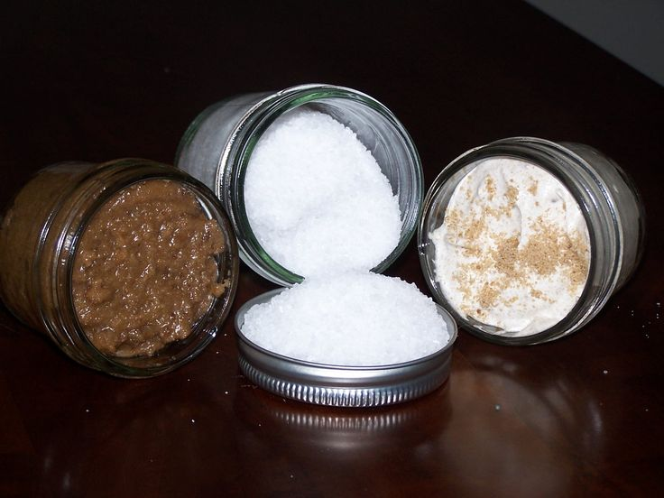 sugar scrubs, bath salts, moisturizing scrubs, and shea lotion