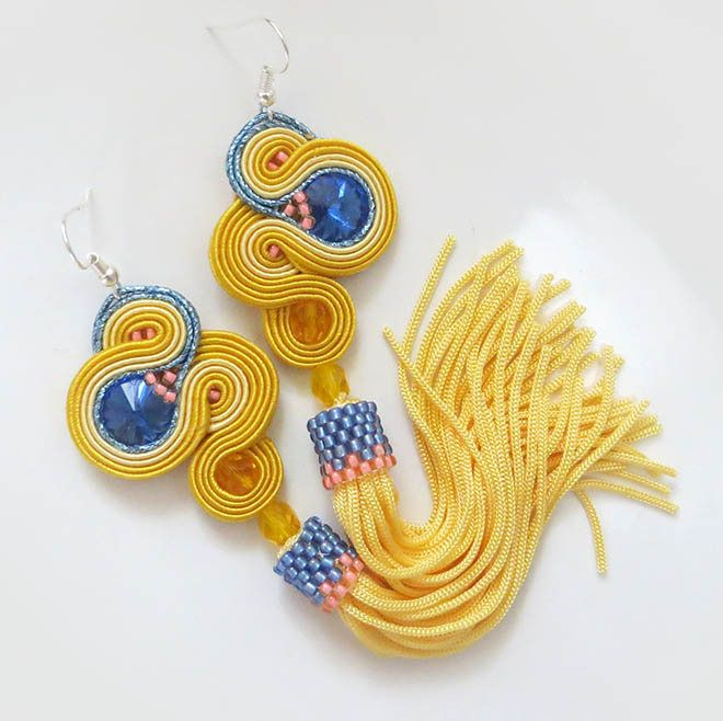Excited to share the latest addition to my #etsy shop: Yellow Tassel Earrings soutache earrings summer earrings Bright earrings gift for sister summer jewelry for women gift pastel earrings http://etsy.me/2o8IPhK #soutache #sutaszula