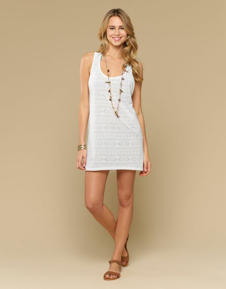 Aztec Burn Out Knot Back Dress