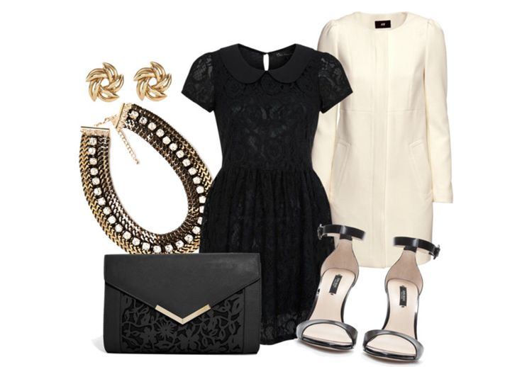 LITTLE BLACK LACE #boomerblogzine #ootd #outfitoftheday #inspiration #lookbook #lace #romantic #blanc #whitecoat #sandals #zara #riverisland #asos #newlook #forever21 #handm