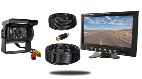 5th Wheel Backup Camera System with a 7-Inch Monitor and a 120° Mounted RV Backup Camera