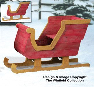 Wooden Wood Christmas Sleigh Plans Woodworking Projects Plans