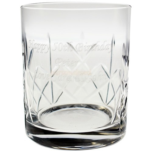 Let any man in your life know how special you think he is by gifting this beautiful Personalised Crystal Whisky Tumbler.Create something truly unique by adding ANY message of your choosing, up to 80 characters, to this Crystal Whisky Tumbler.The tumbler is exquisitely designed with  the whisky lover in mind, and makes a great gift whatever the occasion.He will be proud to have such an elegant  tumbler to sip his favourite tipple and no doubt will think fondly of you every time.Our…