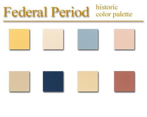 Historic color palette - Federal Style - artSparx color palette recipies, techniques and tips