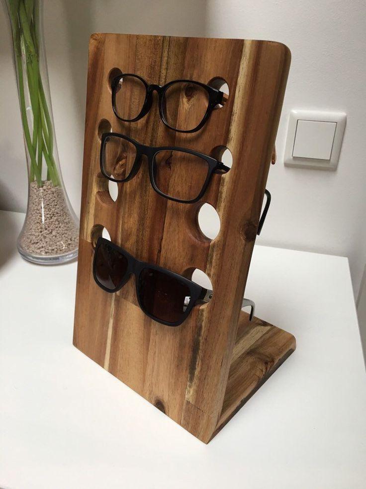 Brillenständer Brillenhalter aus Holz Akazie
