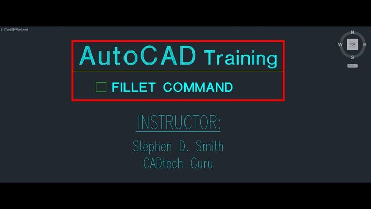 AutoCAD Training Fillet Command | The AutoCAD Fillet Command in Detail