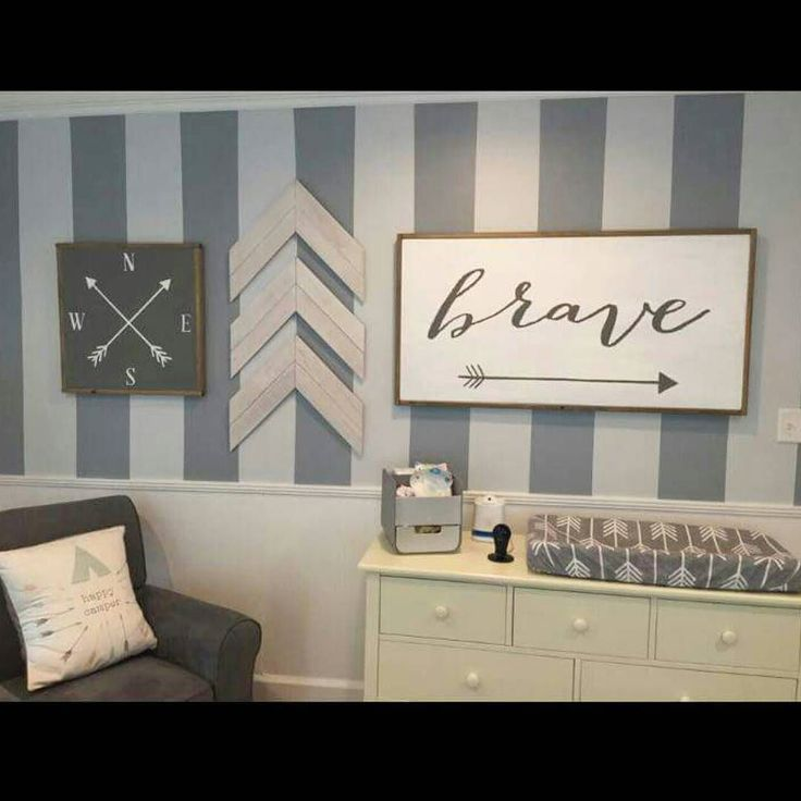 Best 25 arrow nursery ideas on pinterest arrow decor for Baby boy mural ideas