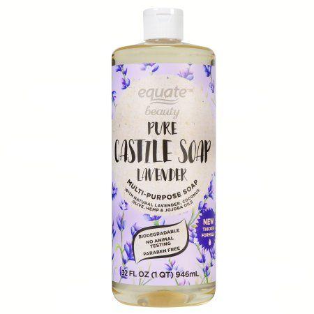 Equate Beauty Lavender Pure Castile Soap, 32 fl oz | Makeup