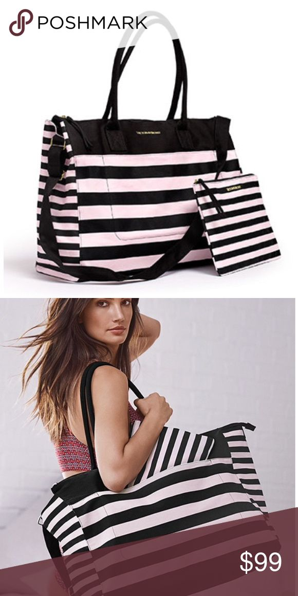 COMING SOONVictoria's Secret Weekender Tote Brand new with tags.  100% Canvas Victoria's Secret Bags Travel Bags