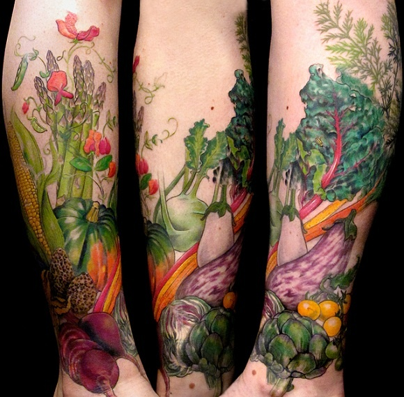 Vegetable garden tattoo so awesome art pinterest for Garden tattoos designs