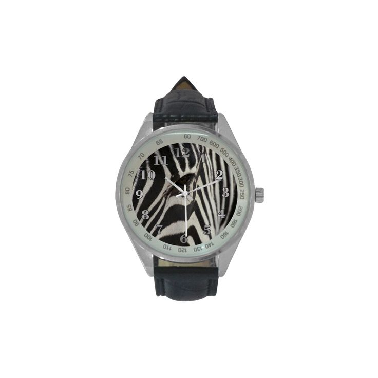 Zebra Men's Leather Strap Analog Watch. FREE Shipping. #artsadd #watches #zebra