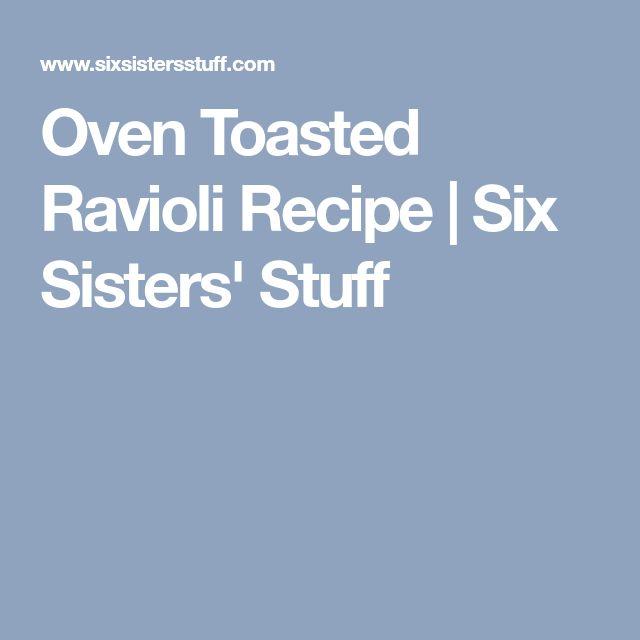 Oven Toasted Ravioli Recipe   Six Sisters' Stuff