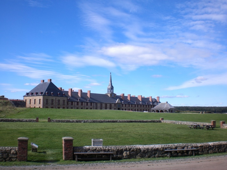 Fortress at Louisbourg on Cape Breton Island