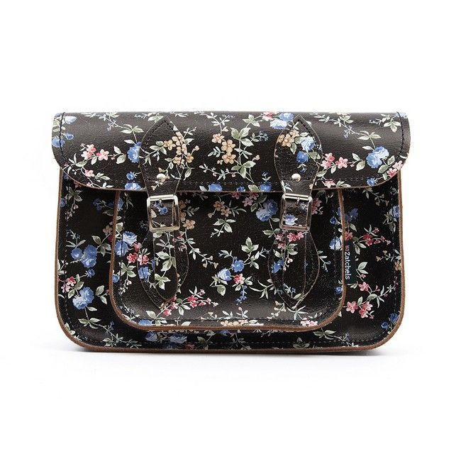 Cloggs- Zatchels- Cracked Leather Floral