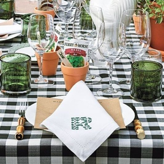 """place """"cards"""" in tiny terra cotta pot with seed packet"""