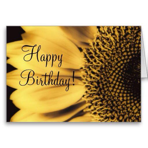 Happy Birthday Sunflower Card   Happy birthday greetings ...