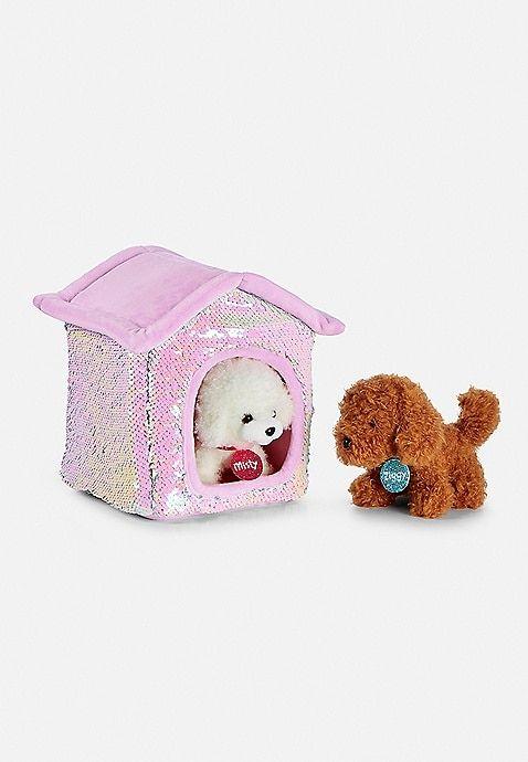Pet Shop Flip Sequin Plush House Justice Pet Shop Toys For
