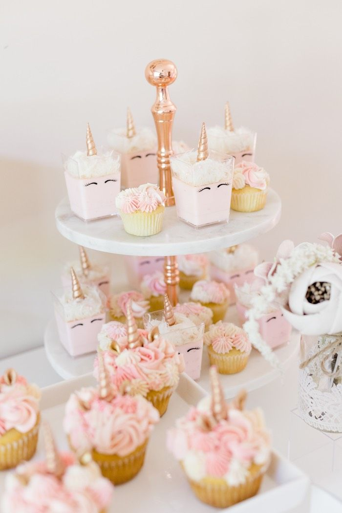 Rose Gold Blush Pink Unicorn Party Kara S Party Ideas Pink Unicorn Party Unicorn Baby Shower Unicorn Baby Shower Theme