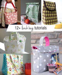 12 fantastic lunch bag tutorials