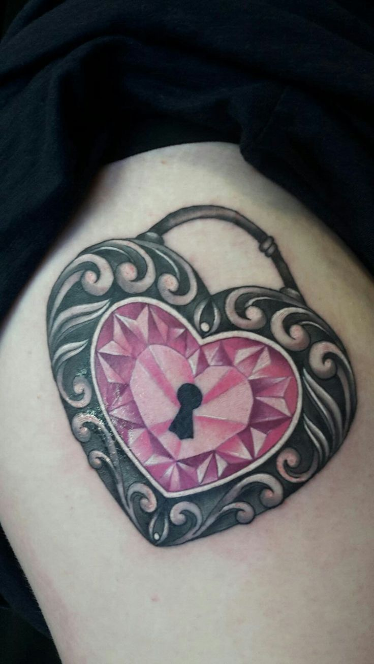 Padlock Tattoo by Petra Kucerova - Work in Progress