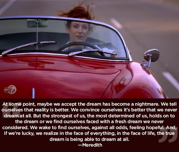 """Never stop dreaming. 