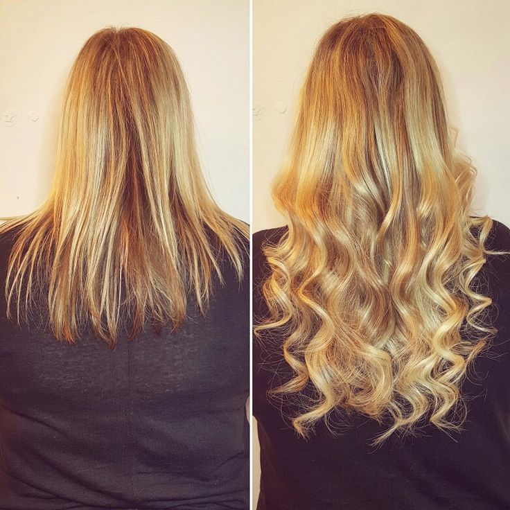 We pumped up the volume on this fine hair and added a few extra inches with a two colour blend of fusion extensions! <3  #Hair #extensions #curls #blonde