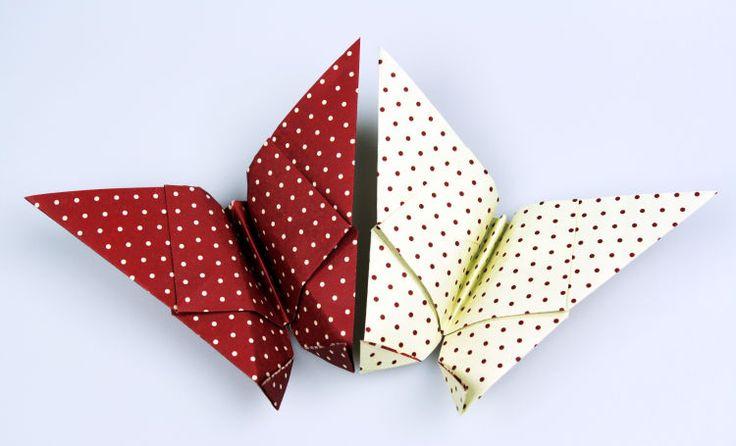 die besten 25 origami schmetterling ideen auf pinterest. Black Bedroom Furniture Sets. Home Design Ideas