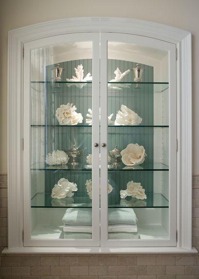 Could be a gorgeous bathroom: towel - coral display. Ken Gemes