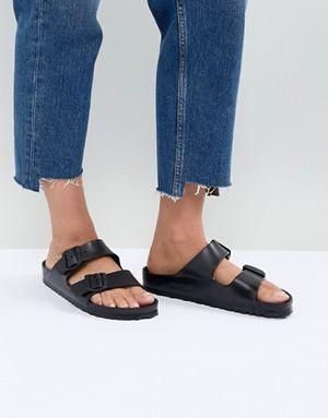 dff6f3a1009 Birkenstock Arizona Eva Black Flat Sandals