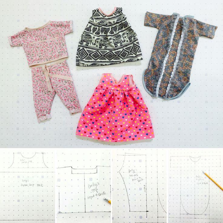 Rita's dolly's new wardrobe! 💘