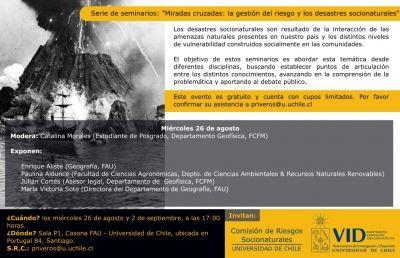 Miradas Cruzadas: gestión del riesgo y desastres..