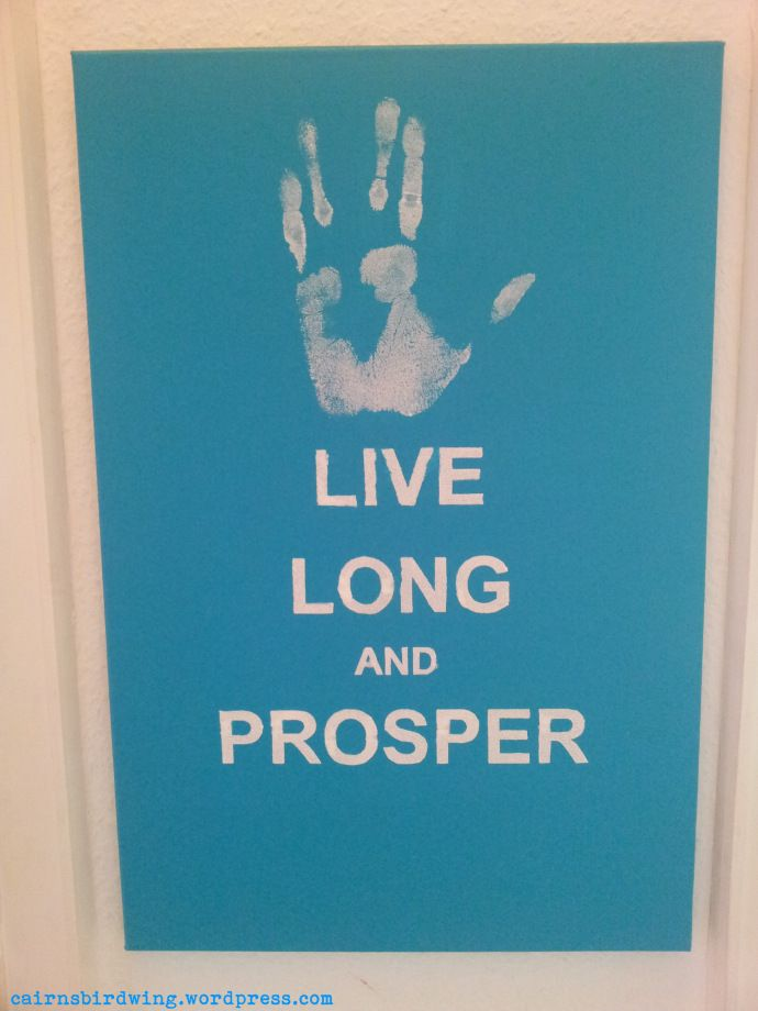 Star Trek Kunst/ Star Trek Art - Live long and Prosper