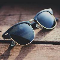 2015 nuevas gafas de sol mujer hombre Shades puntos Retro gafas de sol UV400 Shades marca gafas mujeres de recubrimiento exterior para hombre