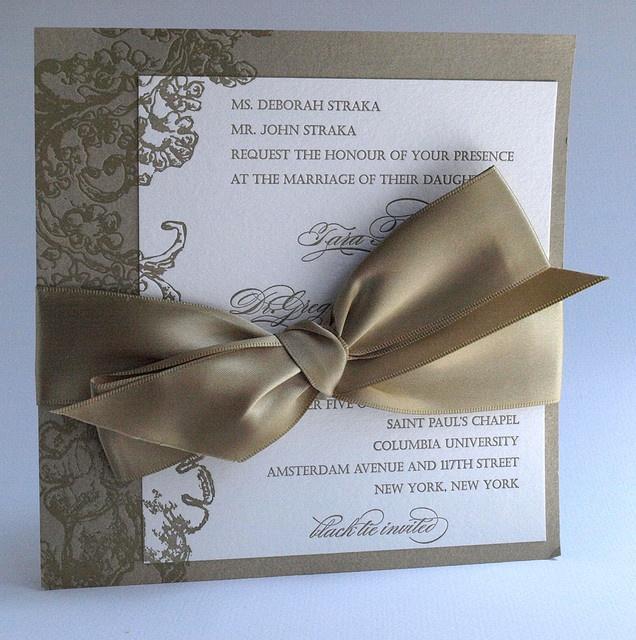 Faire part de mariage ruband genereux gros   big ruband modern wedding card