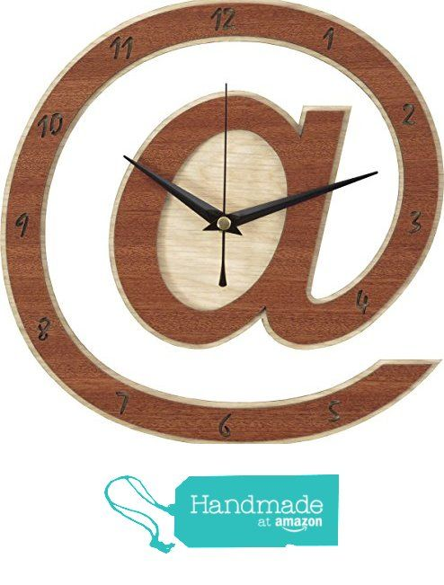 At Clock in Wood / @ Clock in Wood from Woodentek  #At #Email #Cloud #Computer #Hackers #Arroba #Freaky #Frikis #Gadget #Gamer #Gamers #Gaming #Geek #Nerd #Chiocciola #Arrobe #BirthdayGifts #MothersDay #FathersDay #Artisan #Giftforme #GiftGiving #Gifts #GiftsIdeas #HandMade #WishList #Giftformen #Giftforher #WallClock